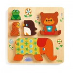 Djeco-01056 Wooden Jigsaw Puzzle - Woodypile