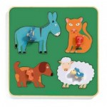 Djeco-01061 Wooden Frame Puzzle - Family Farm