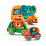 Djeco-01251 Wooden Jigsaw Puzzle - Pachy & Co