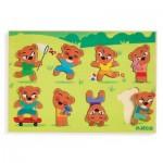 Djeco-01252 Wooden Jigsaw Puzzle - Teddymatch