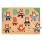 Djeco-01253 Wooden Jigsaw Puzzle - Foxymatch