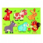 Djeco-01259 Wooden Jigsaw Puzzle - Coucou-cow