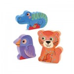 Djeco-01263 Wooden Jigsaw Puzzle - Tunga & Co