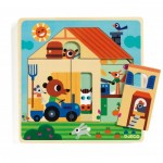 Djeco-01486 Wooden Jigsaw Puzzle - Chez Gaby