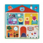 Djeco-01519 Wooden Jigsaw Puzzle - Swapy
