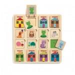Djeco-01520 Wooden Puzzle - Puzzle Cabanimo