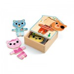 Djeco-01678 6 Wooden Jigsaw Puzzle - Dressup-mix