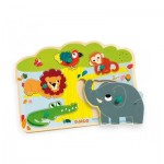 Djeco-01708 Wooden and Musical Puzzle - Baobab