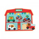 Djeco-01709 Wooden and Musical Puzzle - Super Jo