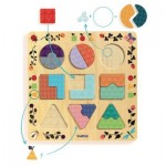 Djeco-01802 Wooden Jigsaw Puzzle - Ludigraphic