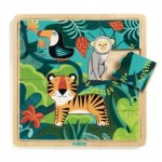 Djeco-01810 Wooden Jigsaw Puzzle - Jungle
