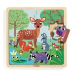 Djeco-01812 Wooden Jigsaw Puzzle - Forest