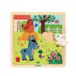 Djeco-01814 Wooden Puzzle - Puzzlo Farm