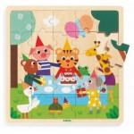 Djeco-01815 Wooden Frame Puzzle - Puzzlo Happy