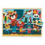 Djeco-01817 Wooden Frame Puzzle - Puzzlo Music