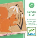 Djeco-01902 Wooden Jigsaw Puzzle - Nature & Co