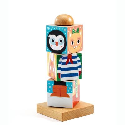Djeco-01910 3D Wooden Jigsaw Puzzle - Twistanimo