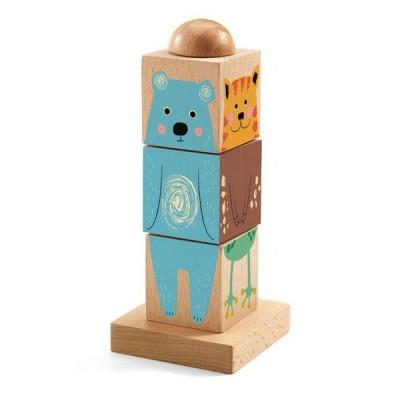 Djeco-01911 3D Wooden Jigsaw Puzzle - Twistizz