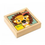Djeco-01953 Wooden Jigsaw Puzzle - Tournanimo