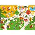 Puzzle  Djeco-07013 XXL Pieces - Flocky