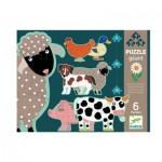 Puzzle  Djeco-07112 XXL Teile - Honoré & Friends