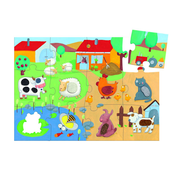 Djeco-07117 Jigsaw Puzzle - 20 Pieces - Giant - Tactilofarm