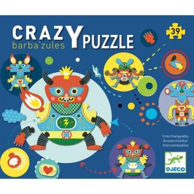 Djeco-07119 Crazy Puzzle - Barbazul