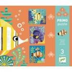 Djeco-07138 3 Puzzles - Fiches