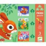 Djeco-07140 3 Puzzles - Rabbits