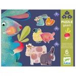 Djeco-07145 6 Jigsaw Puzzles - Dandelion & Friends