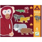 Djeco-07147 6 Puzzles - Henri & Friends