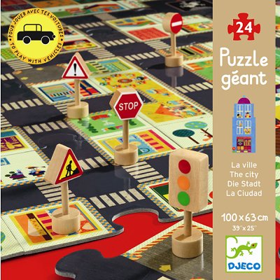 Djeco-07161 Jigsaw Puzzle - 24 Pieces - In Town