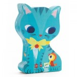 Djeco-07207 Silhouette Puzzle - Pachat and his Friends