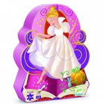 Djeco-07232 Jigsaw Puzzle - 24 Pieces - Cinderella Shaped Box - Cinderella