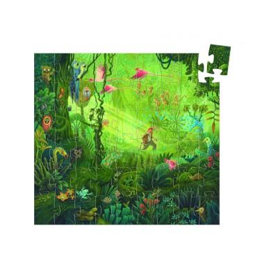 Djeco-07244 Jigsaw Puzzle - 24 Pieces - Castle Shaped Box - Romantic Castle