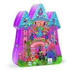 Djeco-07246 Jigsaw Puzzle - 24 Pieces - Castle Shaped Box - Fairy Castle