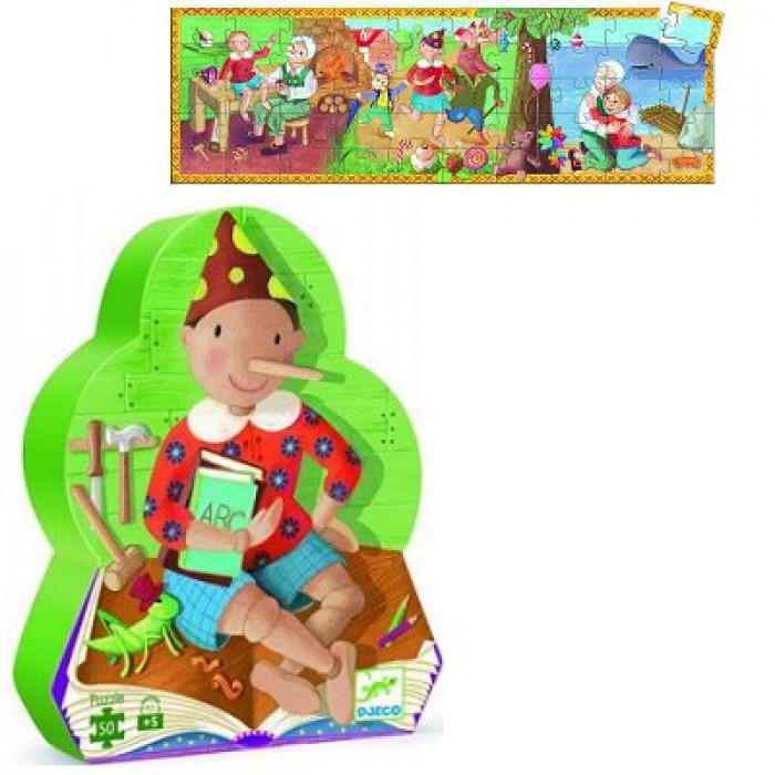 Jigsaw Puzzle - 54 Pieces - Pinocchio Shaped Box - Pinocchio