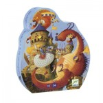 Puzzle  Djeco-07256 Vaillant & The Dragon