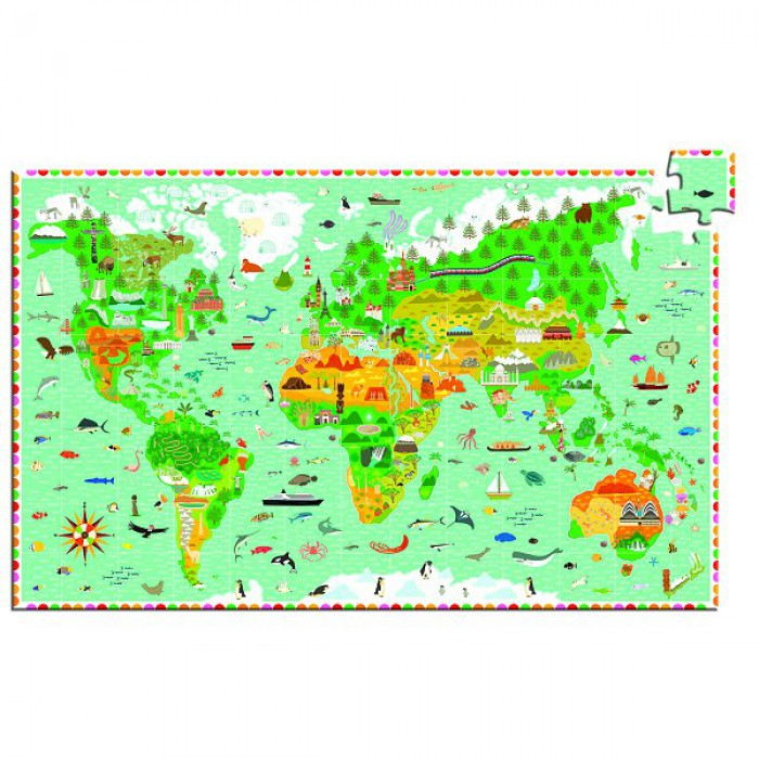 Jigsaw Puzzle - 200 Pieces - Observation Puzzle : World Monuments