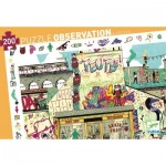 Djeco-07453 Observation Puzzle - Streetart