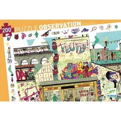Djeco-07453 Observation Puzzle - Streetart