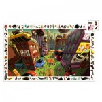 Djeco-07459 Observation Puzzle - City of the Futur