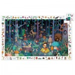 Djeco-07504 Observation Puzzle - Enchanted Forest