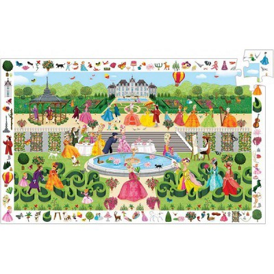 Djeco-07505 Jigsaw Puzzle - 100 Pieces - Observation Puzzle : Garden Party
