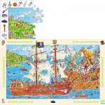 Djeco-07506 Jigsaw Puzzle - 100 Pieces - Pirates