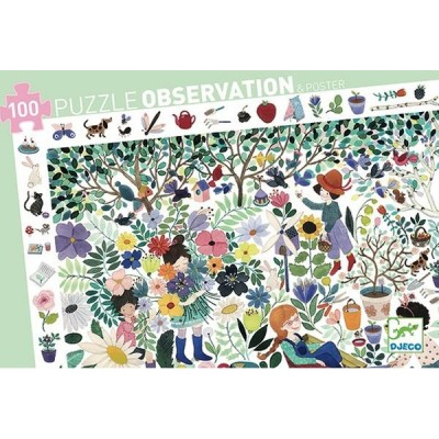 Djeco-07507 Observation Puzzle - 1000 Flowers