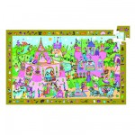 Djeco-07556 Jigsaw Puzzle - 54 Pieces - with a poster and a game - Princess