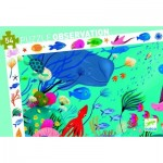 Djeco-07562 Observation Puzzle - XXL Pieces - Aquatic