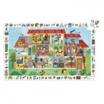 Djeco-07594 Observation Puzzle - The House
