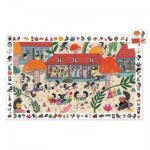 Djeco-07595 Observation Puzzle - School of Hedgehogs
